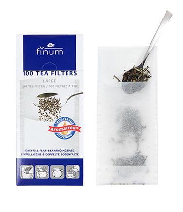 Papírové filtry na čaj Finum 100ks