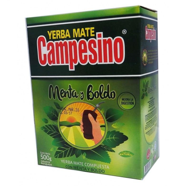 Yerba Mate - Campesino Menta - Boldo - 500 g