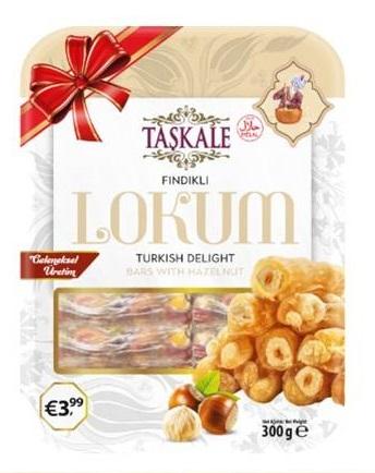Taskale Findikli - lískový oříšek - 300g
