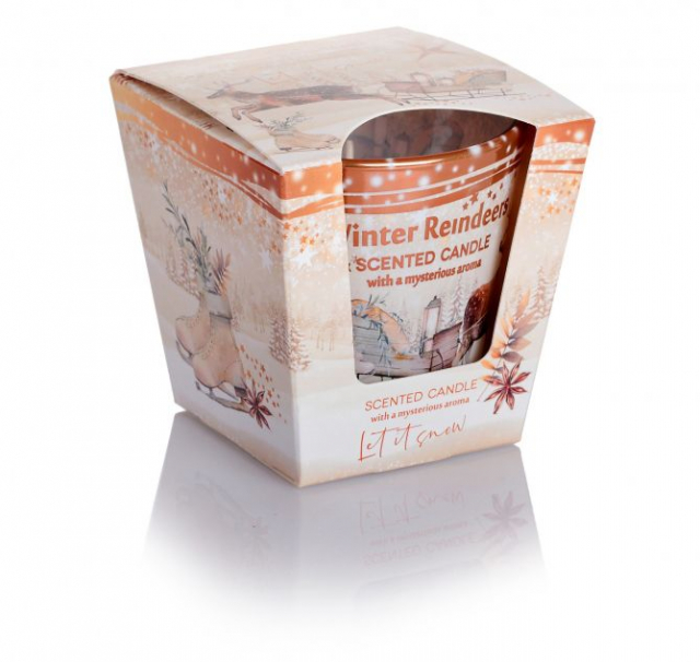 Svíčka Winter Reindeers - Let It Snow  (With A Mysterious Aroma) 115g