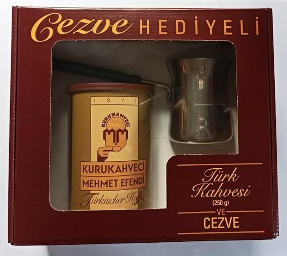 Set Kurukahveci Mehmet Efendi - káva 250g + džezva