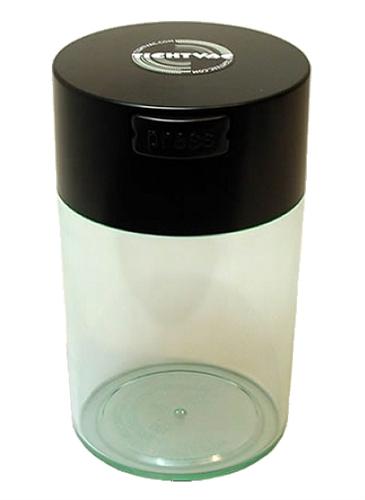 Coffeevac Vakuová dóza - 150g čirá, černé víčko