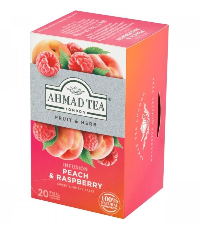 Ahmad - Peach & Raspberry 36g (20 sáčků)