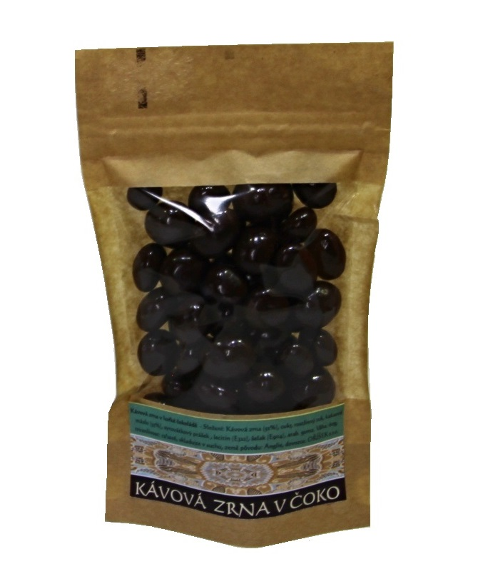Kávová zrna v hořké čokoládě 60g