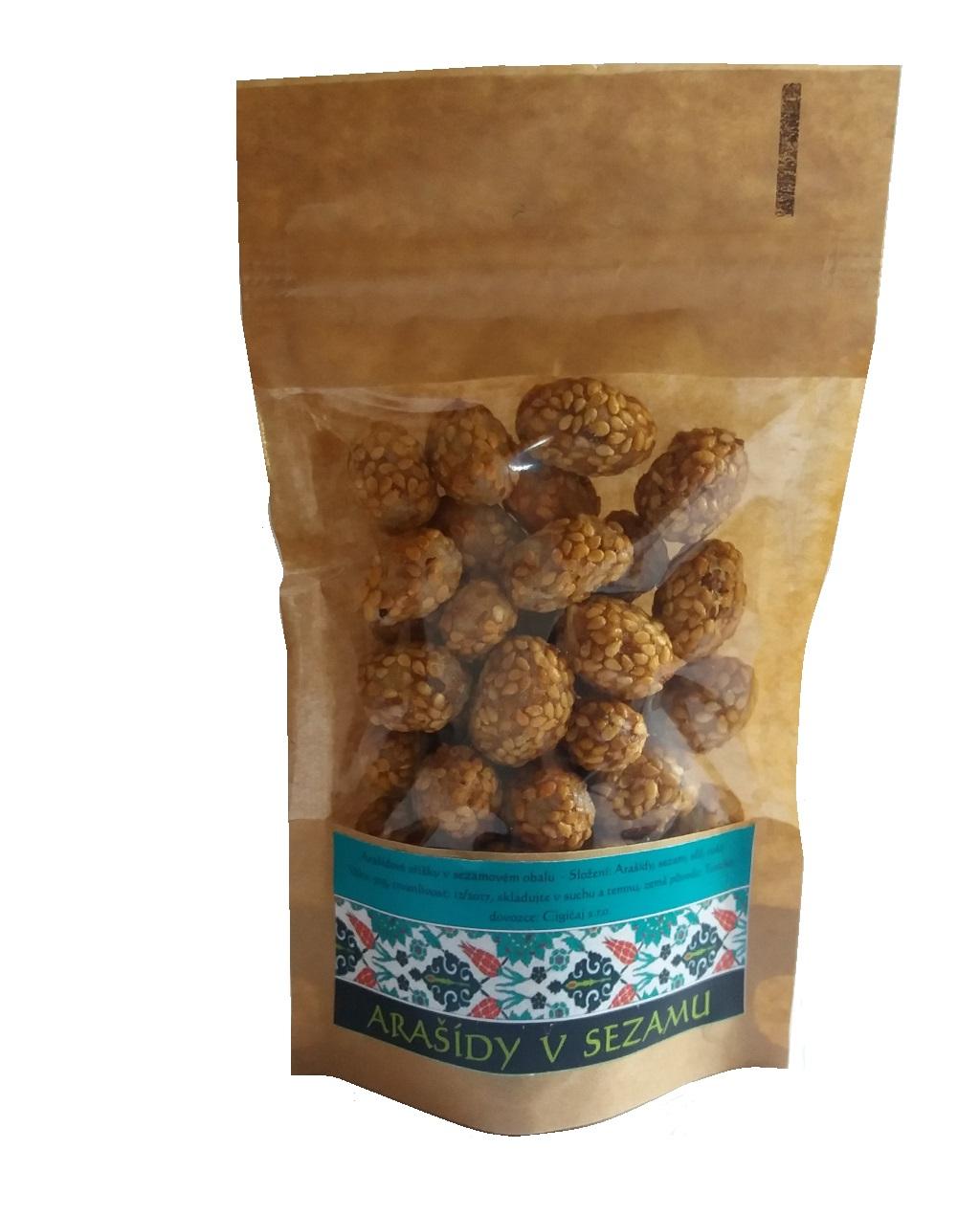 Arašídy v sezamu 50g
